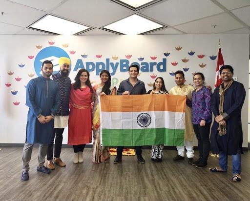 Staff celebrating Diwali in office