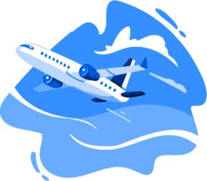 Illustration of airplane