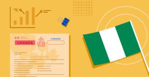 ApplyInsights Nigeria Spotlight header featuring a Nigerian flag and a Canadian passport
