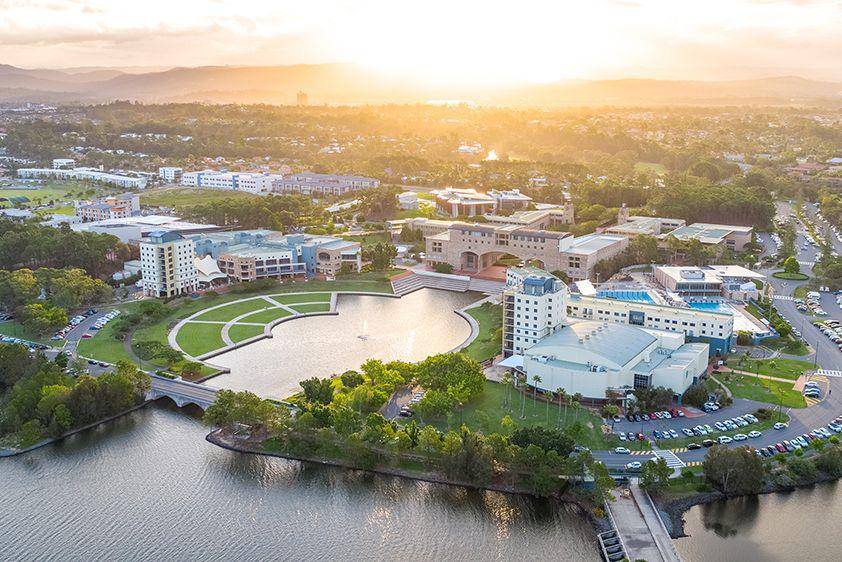 Aerial shot of Bond University