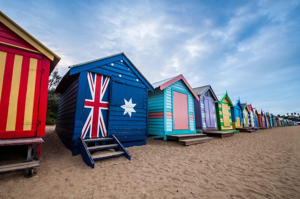 Photograph of Brighton Beach in Australia