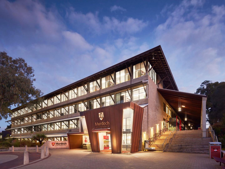 Murdoch University campus at dusk