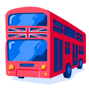 Illustration of double decker bus