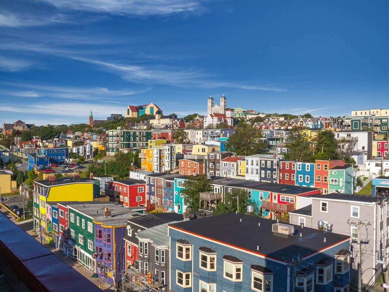 Aerial photograph of St. John's, Newfoundland