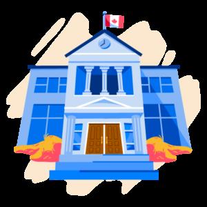 Illustration of Canadian school