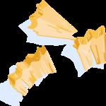 Illustration of yellow pencil shavings