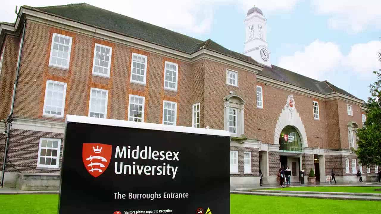 Photograph of Middlesex University campus