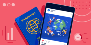 ApplyInsights: What International Students are Searching For – ApplyBoard Trends in 2020 banner featuring passport and phone with world picture