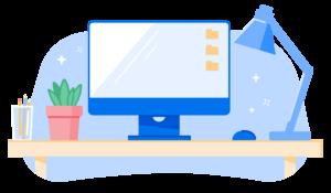 Illustration of desk