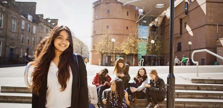 Students at the University of Abertay