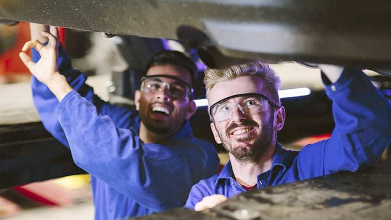 Photo of Automotive Service Technology students