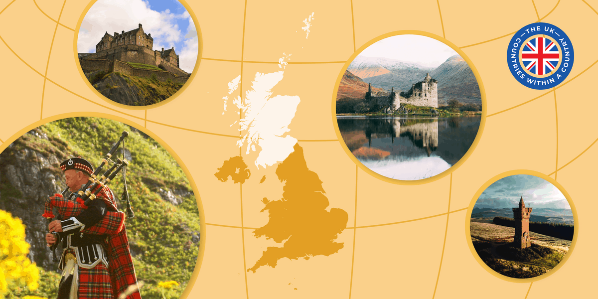Composite of various images of Scotland