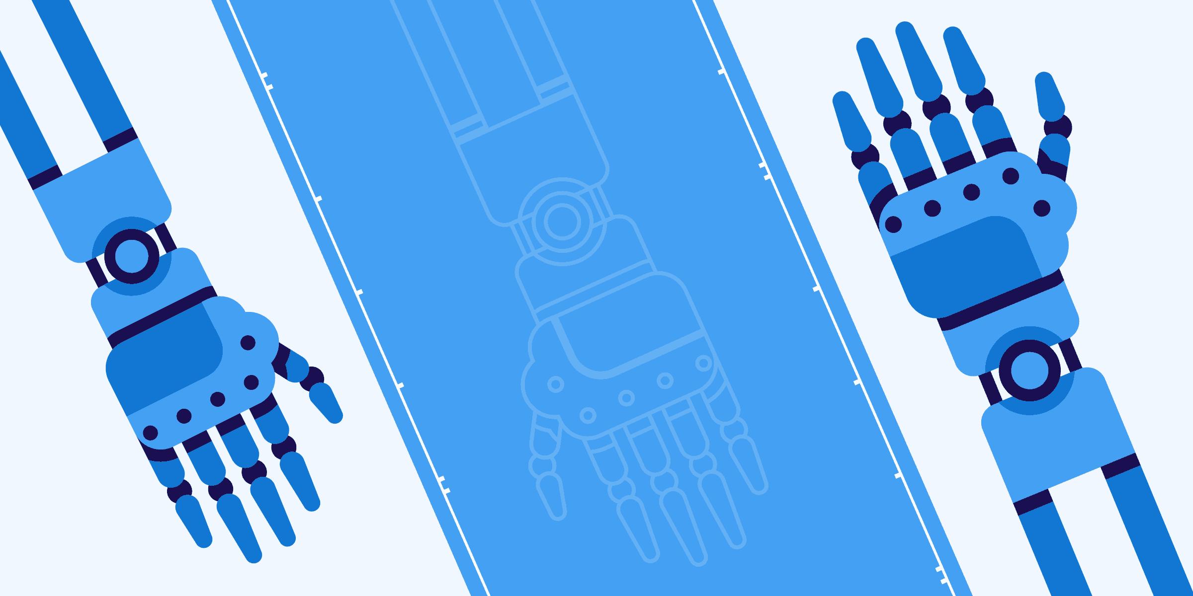 Illustration representing mechatronics and robotics