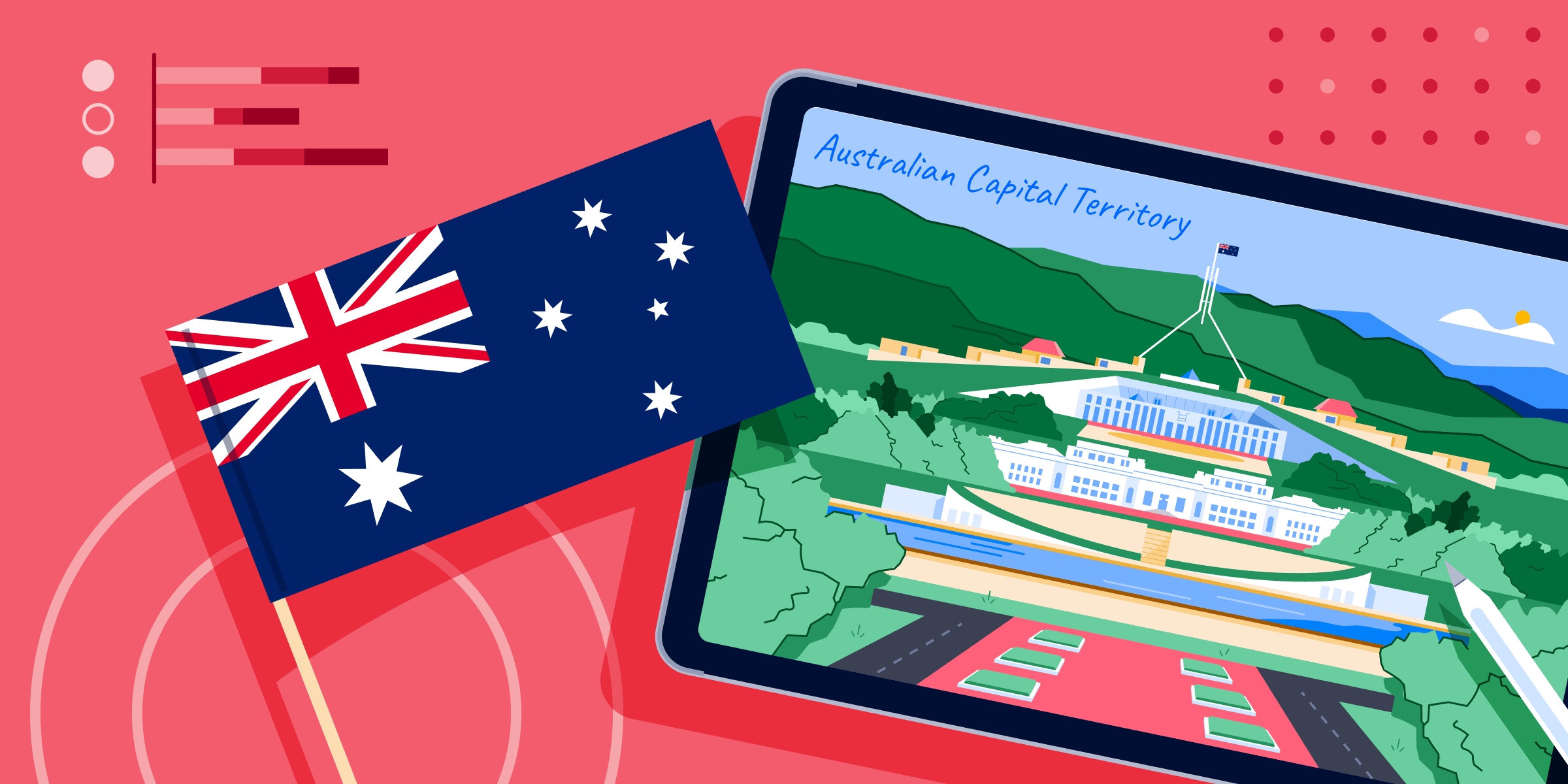 ApplyInsights: Rising Demand for In-Person International Education in Australia blog banner with AU flag and image of Capital Territory