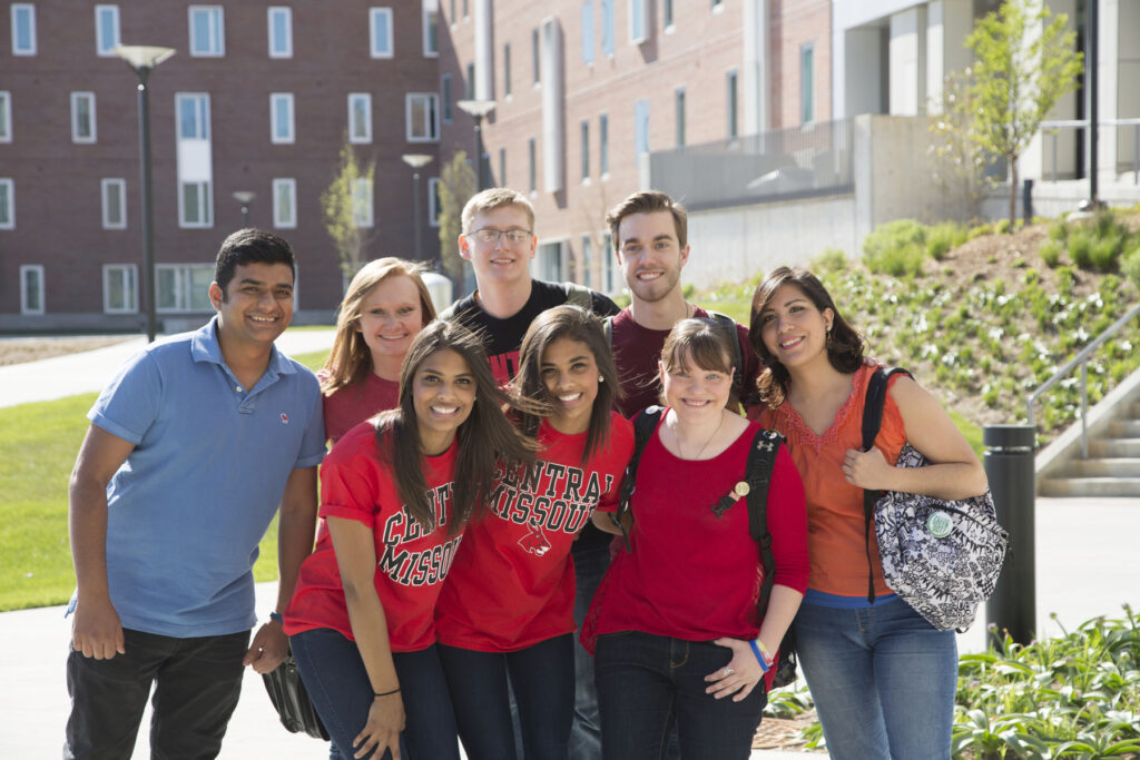 A group of students at the University of Central Missouri