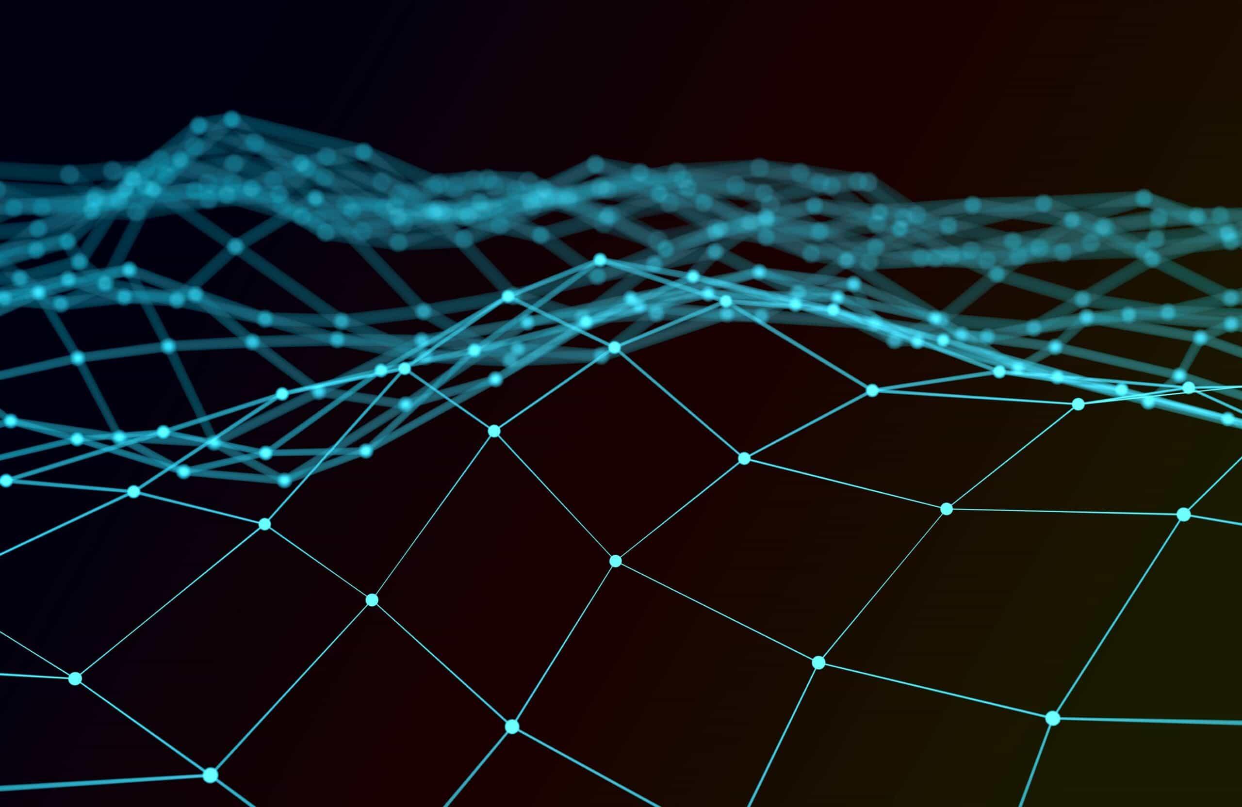 Illustration representing blockchain
