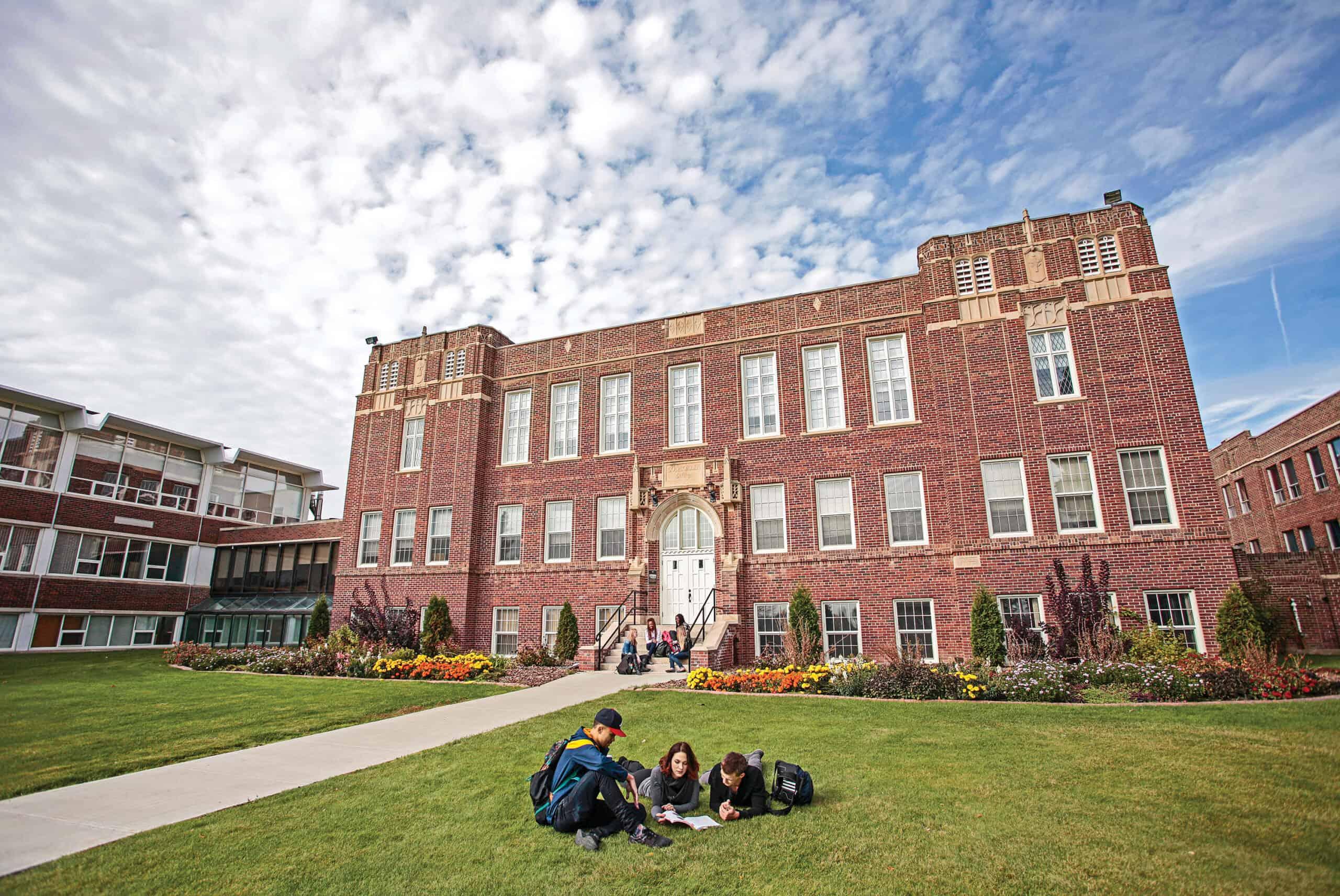 Students on Concordia University of Edmonton campus