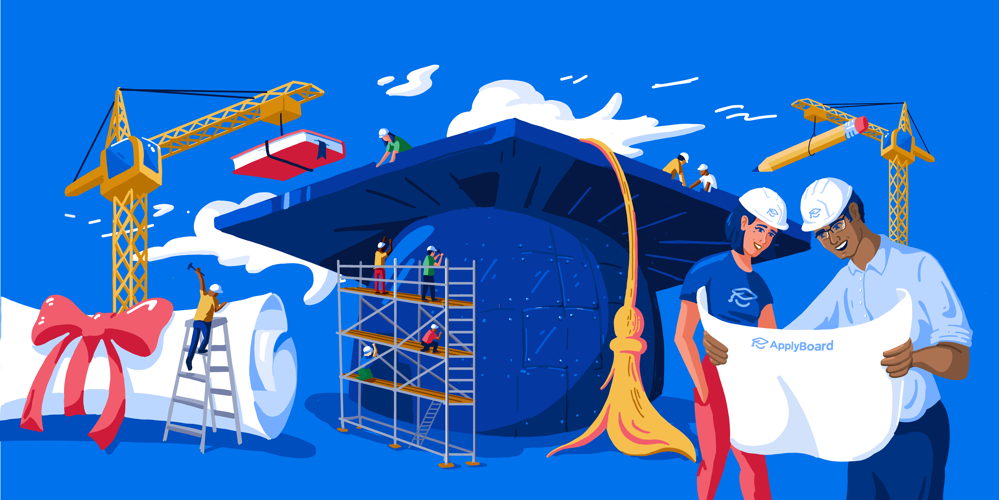 Illustration of building a better future