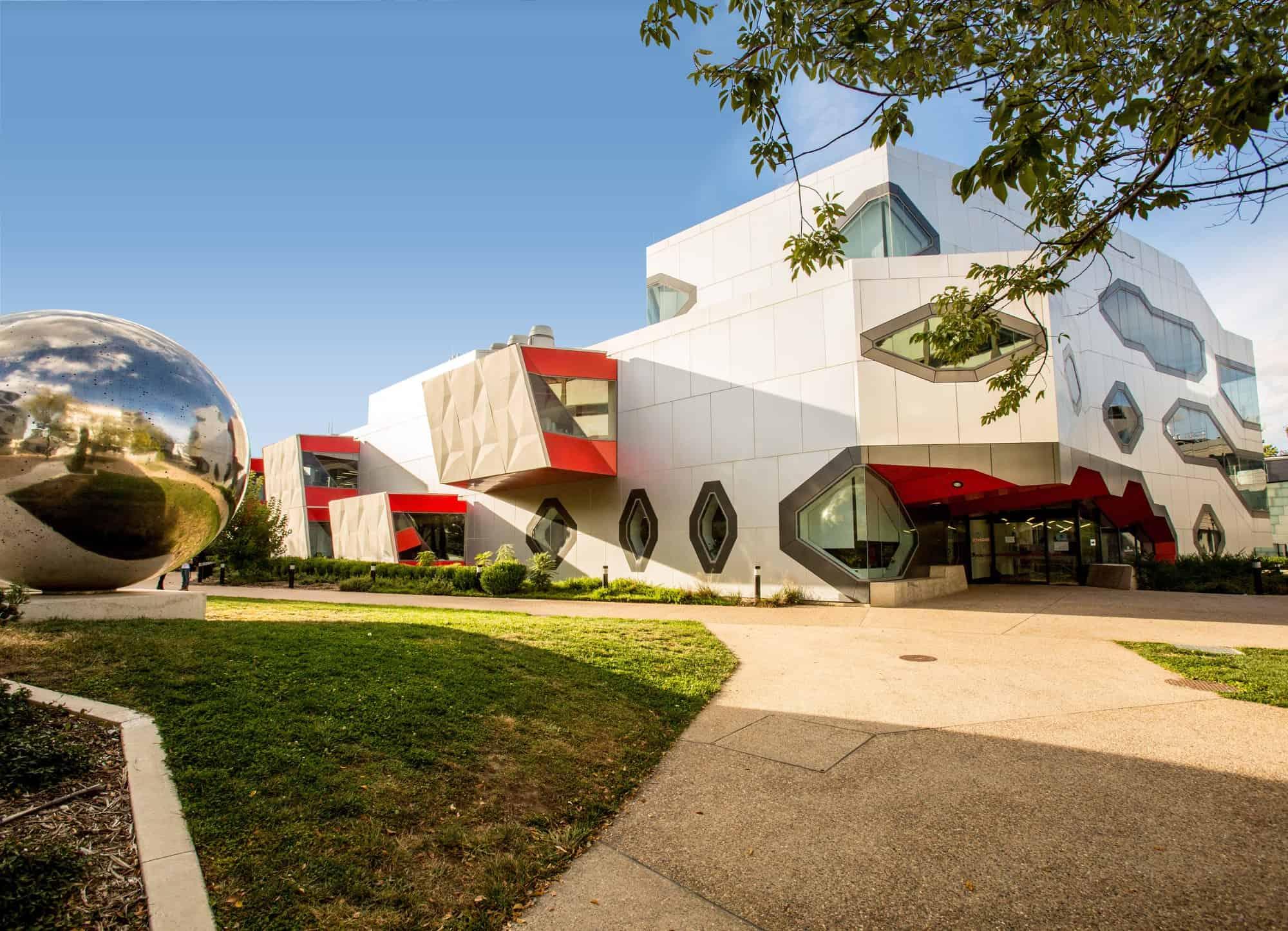 A photo of Australian National University campus.