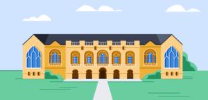 An illustration of a school.