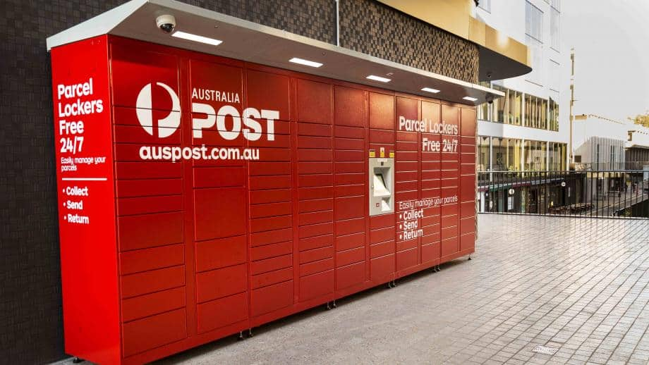 A photo the Australian Post mailboxes.