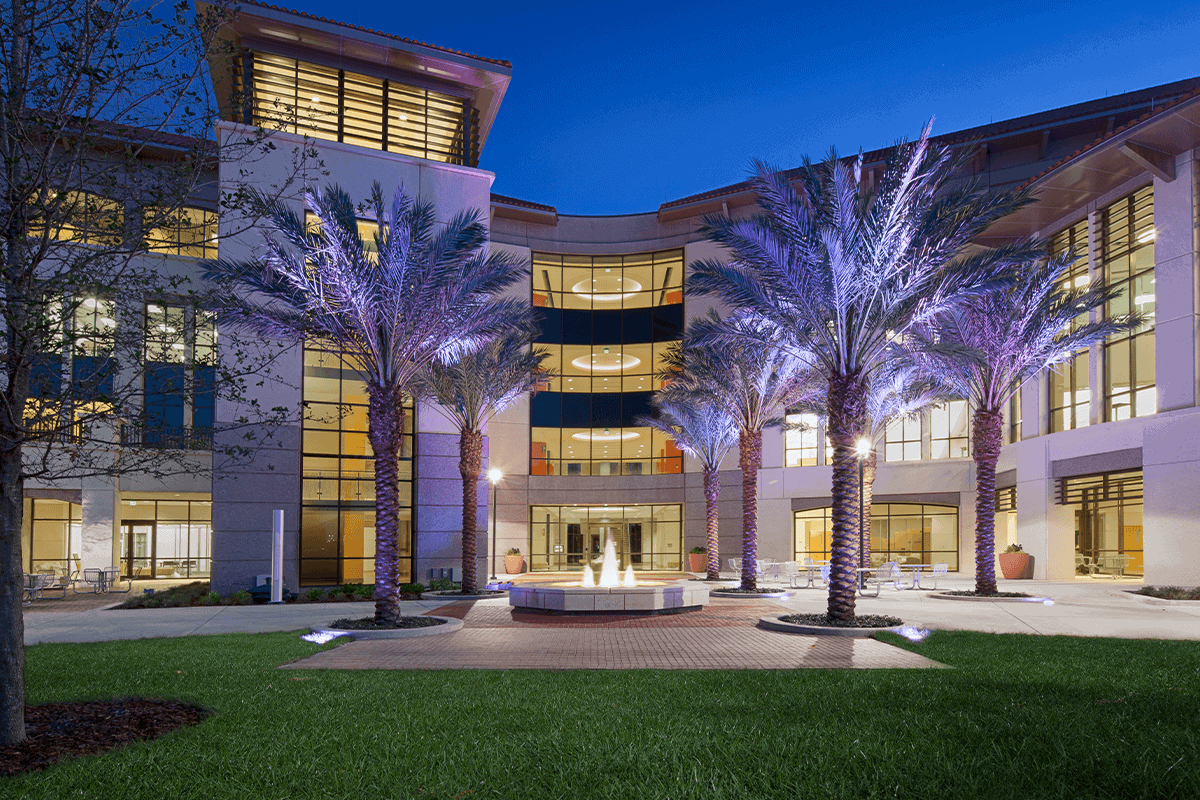 A photo of Valencia College West Campus.
