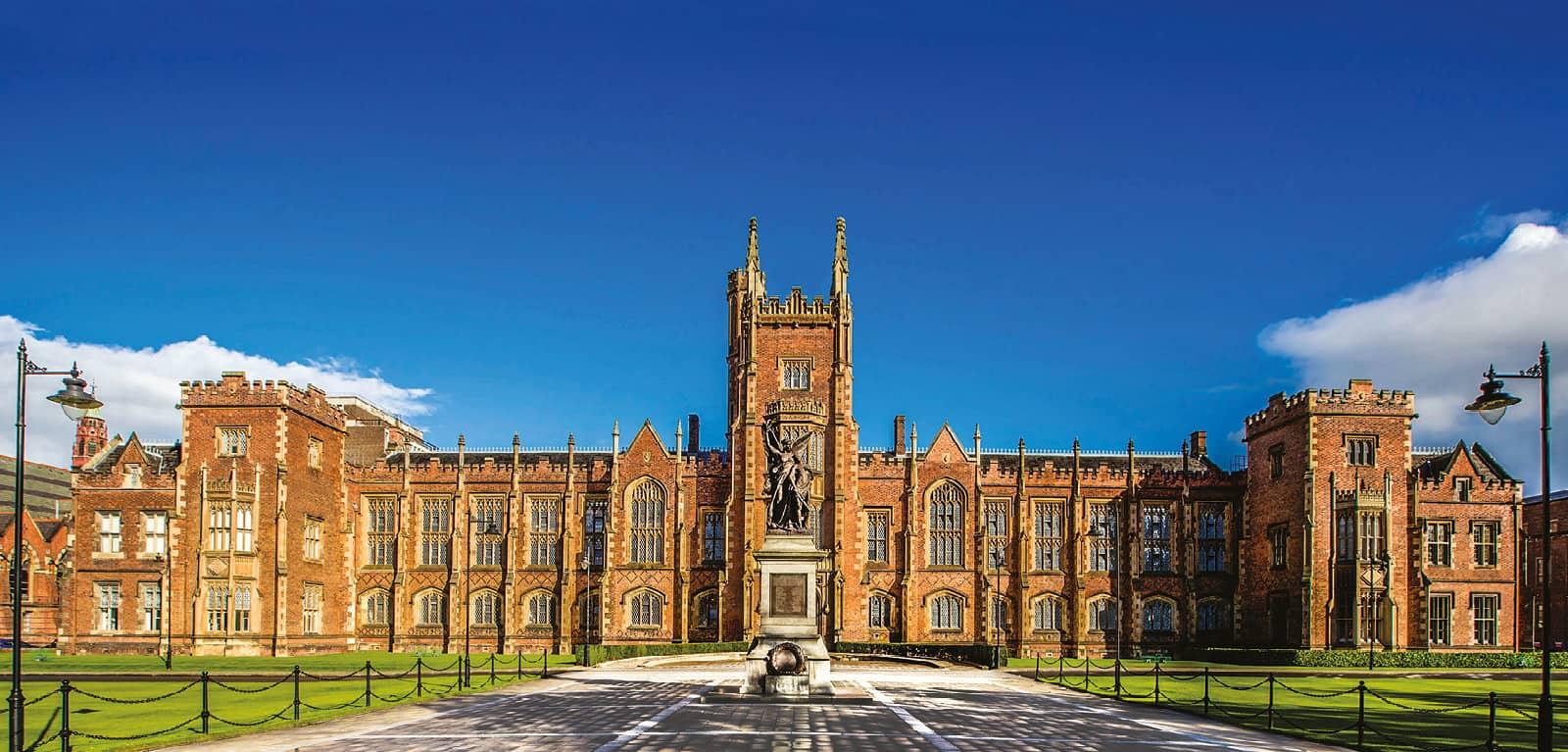 A photo of Queen's University Belfast.